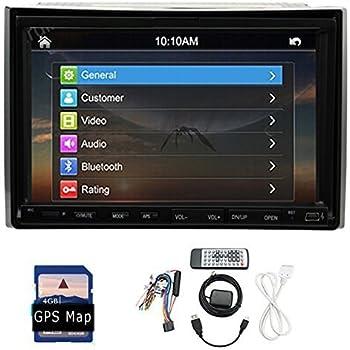Nouveau GPS MAP gratuit 2 Din GPS Autoradio Navigation Radio TV de voiture Bluetooth st¨¦r¨¦o DVD CD Lecteur MP3 Double Din In Car Multimedia BT SD / USB / FM / AM / MP3 / MP4 + PC + Accessoires voiture
