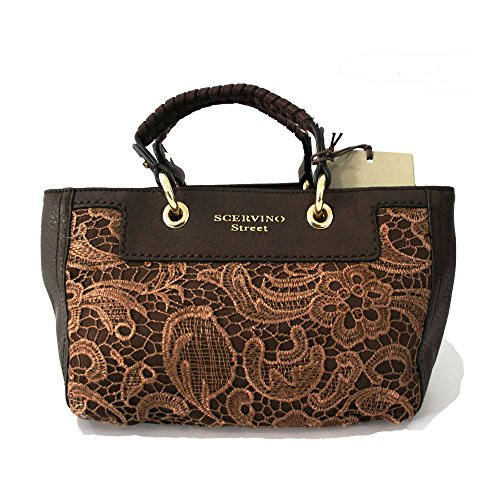 Borsa Scervino Street Nikita Lace marrone cod. scbpu0000092 outlet borse made in italy borse firmate scontate bag shoulder borsa donna hand bag borsa a mano