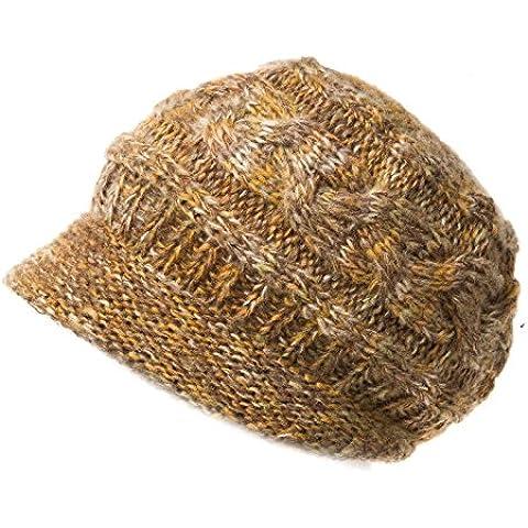 Dngy*Cap i figli di tessitura di lana spessi all'interno Ms.