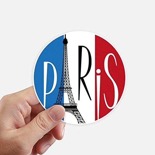DIYthinker Nationalflagge Frankreich Eiffelturm Paris Runde Sticker 10Cm Wand Koffer Laptop Motobike Aufkleber 8Pcs Diameter 10Cm Mehrfarbig - Paris-wand-aufkleber