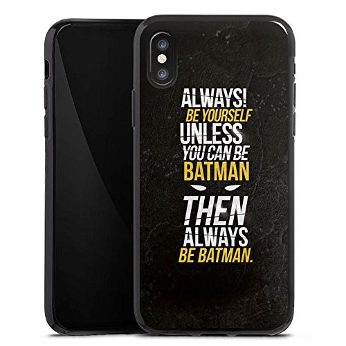 Apple iPhone 7 Hülle Case Handyhülle Batman Sprüche Statement Silikon Case schwarz