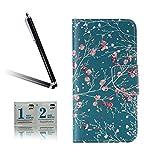 ARTLU® BQ Aquarius M5.0 Taschen Schalen PU Leder Tasche Schutzhülle Hülle Handy Etui Schale mit Ständerfunktion und Kreditkartenfächer für BQ Aquaris M5 (5.0 inches)A15