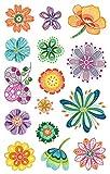 Avery Zweckform 54484 Deko Sticker Kreativblumen 30 Aufkleber