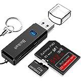 USB 3.0 kaartlezer, Beikell High Speed SD/Micro SD kaartlezer - ondersteunt SD / Micro SD / TF / SDHC / SDXC / MMC - compatibel met Windows/Mac/OS enz.