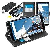 Orzly® - Multi-Function Wallet Case pour Motorola NEXUS 6 - ( Etui avec Portefeuille + Détecteurs Veille & Support Stand Intégré ) - Housse / Portefeuille NOIR pour GOOGLE NEXUS 6 SmartPhone ( 2014 Modèle )