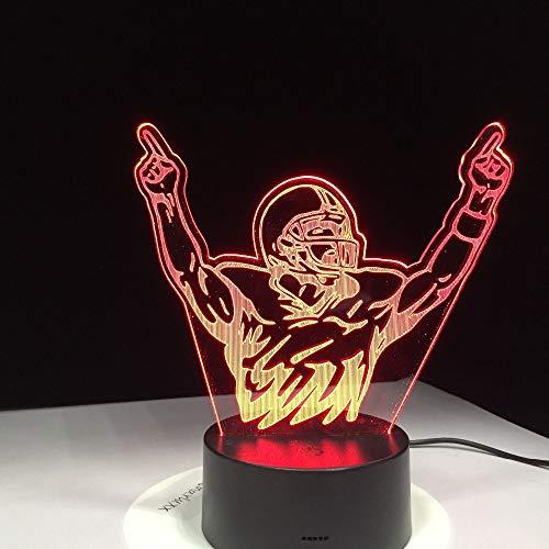 BFMBCHDJ Neuheit 3d tischlampe motocross bike champion mann nachtlichter led usb 7 farben sensor schreibtischlampe als weihnachtsgeschenke -