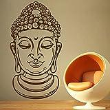DECOR Kafe Home Decor Buddha Face Wall Sticker, Wall Sticker For Bedroom, Wall Art, Wall Poster (PVC Vinyl, 71 X 134 CM)