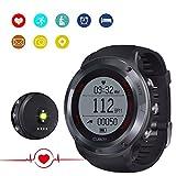 CUBOT F1 Unisex Fitness Armband Smartwatch mit Pulsmesser, Armband zur Herzfrequenz, Pulsuhr Aktivitätstracker, Wasserdicht IP67 - Schrittzähler, SMS, Anrufe, Trinken Wasser und Soziale Software Reminder, Kalorienzähler,...