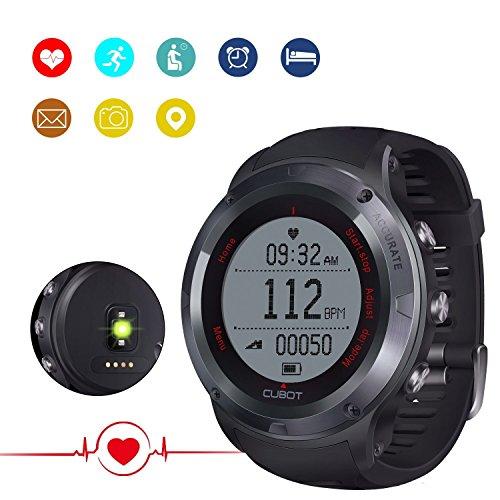 CUBOT F1 Fitness Armband Smartwatch mit Pulsmesser, Herzfrequenz, Aktivitätstracker, Wasserdicht IP67 - Schrittzähler, kompatibel mit iOS 8 oder höher/Android 4.3 oder höher für 25-30 Wochentage