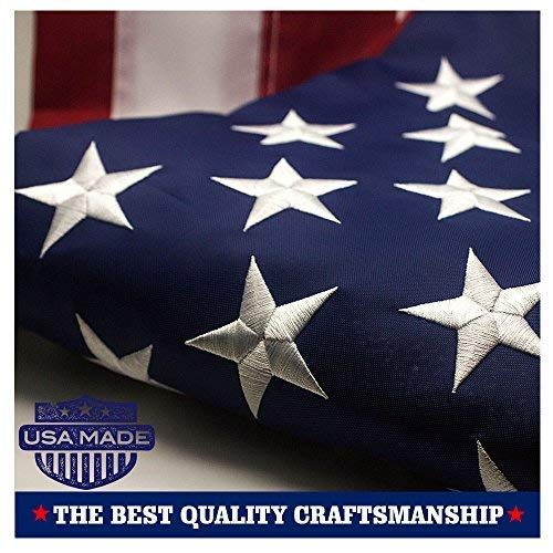 American flag-embroidered Sterne genäht Streifen Tüllen Messing USA Flaggen, usa, 3 by 5 Foot