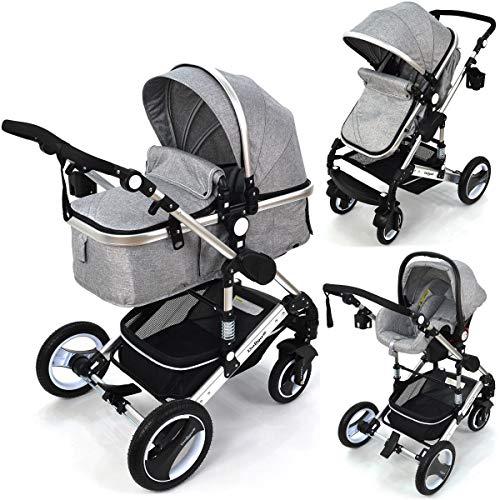 Kinderwagen 3in1 Modell Bambimo von Daliya mit Babyschale in verschiedenen Farben