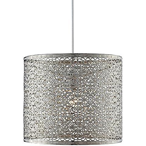 Lighting Collection 700035 - Lámpara de techo (60 W, no electrificada, cromo)