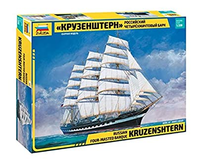 "Zvezda Z9045 Krusenstern Sailing Ship"" Kit 1:200 Modellino Model"""