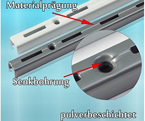 Regalsystem metallschienen  PRIOstahl® WANDSCHIENEN für REGALTRÄGER | 2 x SCHIENEN | 2-reihig ...