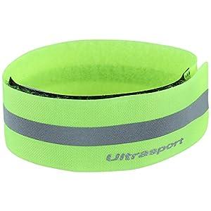 Ultrasport Reflektorband – Lichtreflexband mit Klettverschluss für mehr Sicherheit bei allen Outdoor-Aktivitäten, neon gelb