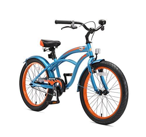 BIKESTAR Premium Sicherheits Kinderfahrrad 20 Zoll für Jungen ab 6-7 Jahre ★ 20er Kinderrad Cruiser ★ Fahrrad für Kinder Champion Blau -