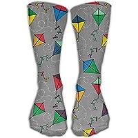 hat pillow Unisex Unique Design Gray Kite Socks 60 cm Socks Cotton/nylon/spandex.
