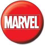 Distintivo del Pulsante Genuino Marvel Comics Logo Rosso Classico Icon