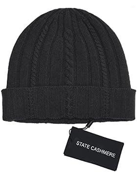 State Cashmere 100 % cachemira Gorro de punto muy suave, cálido y cómodo