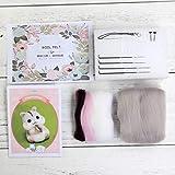 LhvierFR feutre de laine Artisanat feutrage Poked Set à la main bricolage pour aiguille Matériel Sac Paquet, feutre faisant DIY kit (boîte cadeau) - boîte cadeau de cerf