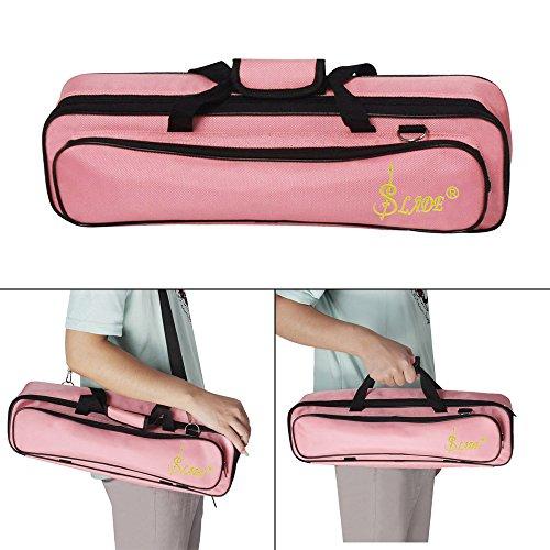 Kalaok Padded Flute Tasche Rucksack Soft Case Leicht mit Tragegriff Schultergurt -