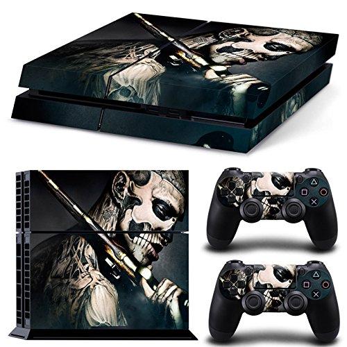GameCheers PS4 Konsole and DualShock 4 Controller Skin Set - Design Pirate Gun Tattoo - PlayStation 4 Vinyl -