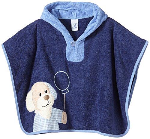 Sterntaler Baby - Jungen Bademantel, Einfarbig, Gr. One Size, Blau (Tinte 383)