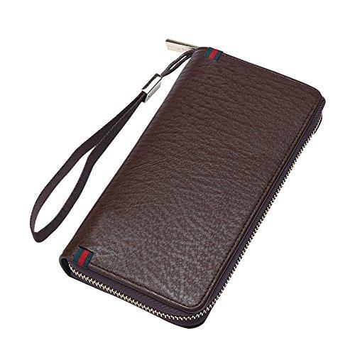 Von ZIPPER WALLET business casual Männer Handtaschen Tasche Handy Tasche, Kaffee (Lv Handtaschen Für Den Mann)