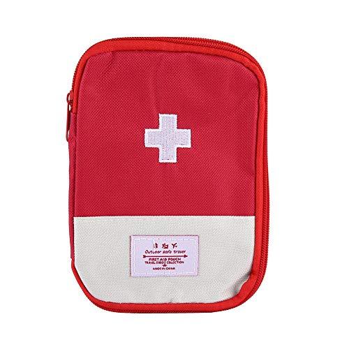 Tragbare Mini-Outdoor-Erste-Hilfe-Kit Bag Reisemedizin Paket Emergency Kit Taschen Medizin Teiler-Speicher-Organisator Red -