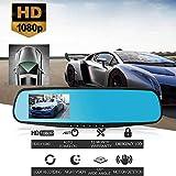 Gaddrt Recorder Fahren Car Dash Kamera 1080P HD Car Dash-Kamera-Fahrzeug-Frontrückteil-DVR-Objektiv-Videorecorder