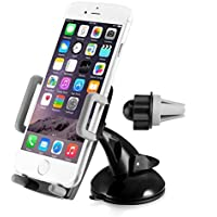 Supporto Auto Smartphone, Amotus® 3 in 1 universale 360 gradi rotazione regolabile Dashboard /Air Vent / parabrezza Car Holder Phone Cradle per iPhone, Samsung, HTC, LG, Mini Tablet, dispositivi GPS - Shock Braccio