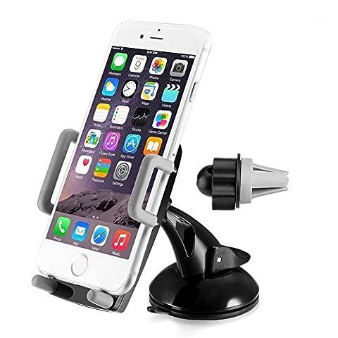 Amotus® 3-1 support de téléphone voiture tableau de bord réglable 1 rotation de 360 degrés-universal / air téléphone de Mont vent pare-brise voiture pour iPhone, Samsung, HTC, LG, Minitablettes, dispositifs GPS