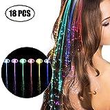 LED capelli clip, Kapmore 18 PCS Fibra Estensioni Barrettes Set dei capelli Luce lampeggiante Luci della clip dei capelli di il concerto di Natale del partito di Natale del giorno del Ringraziamento