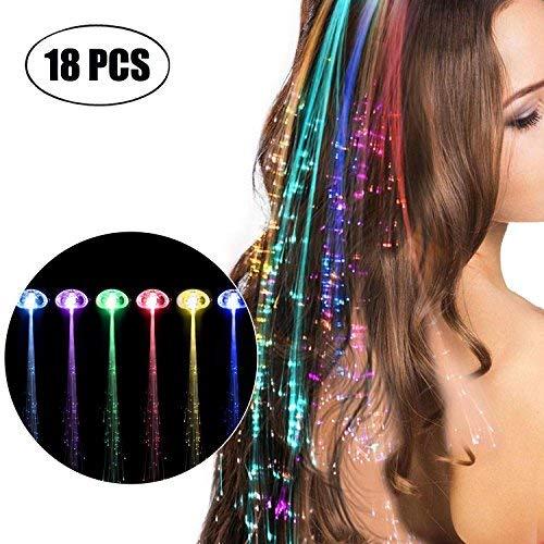 more Haarclips Leuchtend 18 Stücke LED-Haarspange Blinklicht LED Haare Haarspangen Leuchten Spielzeug Halloween ()