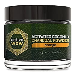 Active Wow Teeth Whitening Charcoal Powder Orange