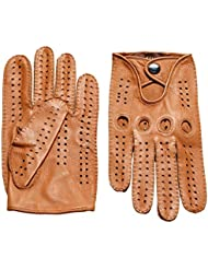 Los guantes calientes guantes y cómoda De los hombres de la primavera y la locomotora de Verano Guantes de EE.UU. Deer guantes hechos a mano retro de la motocicleta Guantes Guantes Harley ( Color : Marrón , Tamaño : S )