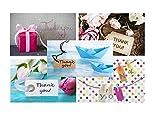 """Lot de 50 cartes postales """"Thank You"""" - 10 motifs differents et """"very british"""" pour dire merci (enveloppes non comprises)..."""