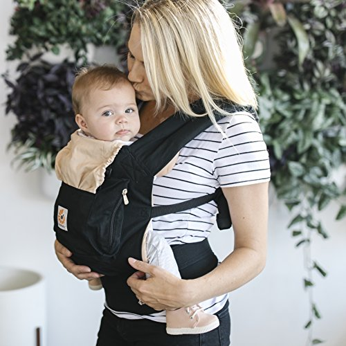 Ergobaby Baby Carrier Toddler Front Back Original Black/Camel, 100% Cotton Ergonomic Child Carrier Backpack