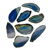 Sharplace Natürliche Achatscheiben Achat Anhänger Schmucksteine Edelsteine für Schmuckanhänger Schmuckherstellung - Navy Blau