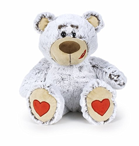 Famosa Softies - Oso San Valentin, color gris, 37 cm (760016118)