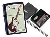 Zippo Fender Jaguar mit Zippo Geschenkset und L.B Chrome Stabfeuerzeug