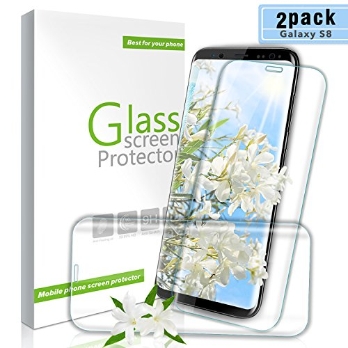 Youer Galaxy S8 Panzerglas Schutzfolie, [2 stück] 9H Härte Premium Gehärtetem Glas Displayschutzfolie, Anti-Kratzen, Anti-Öl, Anti-Bläschen, für Samsung Galaxy S8