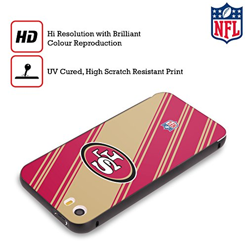 Ufficiale NFL Pattern 2017/18 San Francisco 49Ers Nero Cover Contorno con Bumper in Alluminio per Apple iPhone 6 Plus / 6s Plus Righe