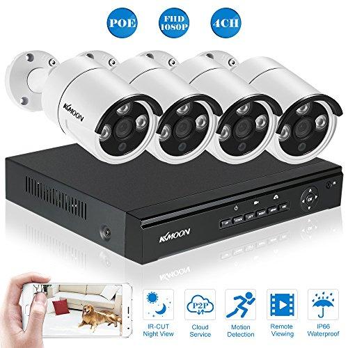 KKmoon-4CH-POE-NVR-Full-HD-1080P-Grabador-de-Video-4x-Cmara-POE-IP-de-Vigilancia-20MP-P2P-IR-CUT-Visin-Nocturna-AndroidiOS-APP-Deteccin-de-Movimiento-CCTV-Seguridad-sin-HDD