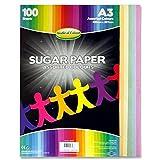 Premier Artículos de papelería mundo de color A3–Papel de azúcar de colores (Pack de 100hojas)