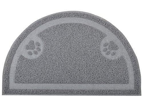 DM Zampe di Gatto lettiera Mat, zerbino, Kitty Litter semicerchio, Tappeto, 59,7x 36,2cm