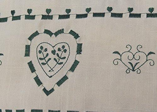 Zirbenkissen grün kariert mit Herz Stickerei befüllt mit Zirbenflocken aus 100% Alpen Zirbenholz in extra Inlett Größe 40x40 cm -