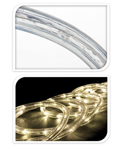 Timer LED Lichterschlauch 5M 50 Led Batteriebetrieben Lichterschlauch mit 8 Programmen und Memory-Funktion für Innen & Außen Party Weihnachten Dekolicht (warmweiß)