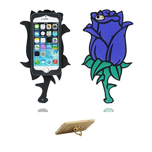 iPhone 5 Custodia, Fashion TPU morbido Cover Shell per iPhone 5G 5C SE Copertura / 3D Rosa Stylish / iPhone 5S Case Anti shock Durable & ring supporto COLOR 1