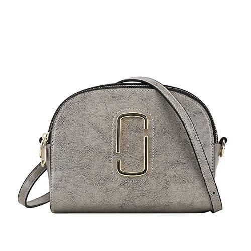 Valin Q0812 Damen Leder Handtaschen Satchel Tote Taschen Schultertaschen Grau
